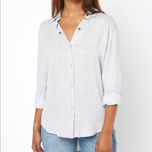 Rails Eliza Pinstripe Button Up shirt